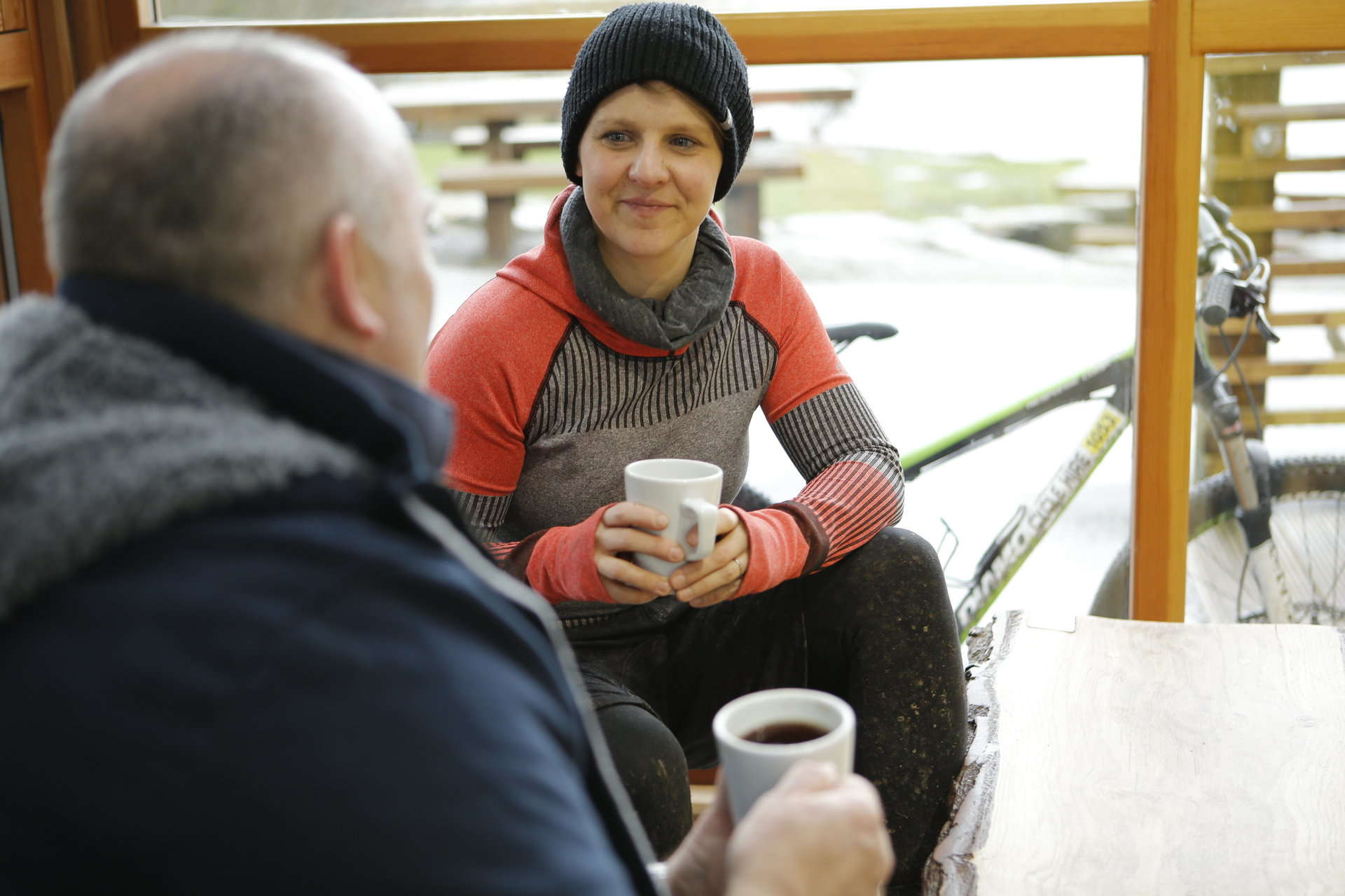 Conversation at Cobtree Manor Park Cafe